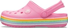 Crocs Crocband Rainbow Glitter CLG K Pink Lemonade 206151-669