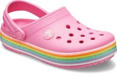 Crocs Crocband Rainbow Glitter Clg K Pink Lemonade 206151-669 crocs za djevojčice