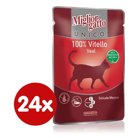 Miglior saszetka Gatto Unico, Cielęcina, 24 x 85g