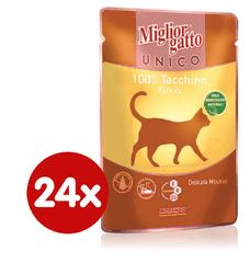 Miglior Gatto Unico mokra hrana, puran, 24 x 85 g