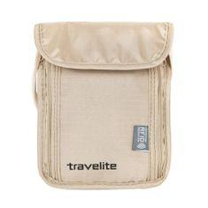 Travelite Cestovná kapsička Neck pouch RFID Beige