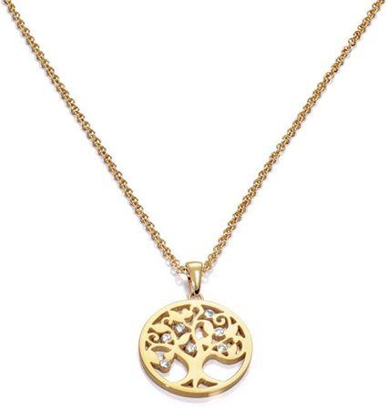 Viceroy Pozlačena ogrlica z drevesom življenja Popular 80007C01012