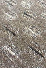 Vopi AKCE: 80x180 cm Běhoun Valencia hnědá (Šířka běhounu šíře 80 cm s obšitím)