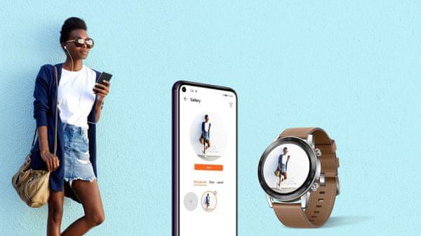 Inteligentné hodinky Honor MagicWatch 2, AMOLED displej, vysoké rozlíšenie, personalizácia, vlastné fotografie, Always-on displej