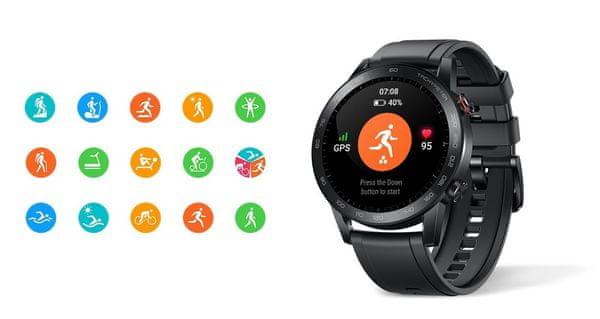 Inteligentné hodinky Honor MagicWatch 2, sledovanie tepu, multi šport, plávanie, stres, spánok, relaxácia, plávanie, beh, profesionálne tréningy, hlasový tréner
