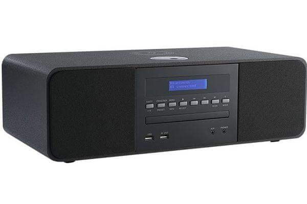 mikrosystém thomson mic-200ibt v černé barvě a thomson mic-201ibt v bílé barvě cd mechanika Bluetooth usb vstup usb pro nabíjení indukční nabíjení fm tuner s rds 20 předvoleb výkon 50 w elegantní design ekvalizér tlačítkové ovládání displej s modrým podsvícením síťové nabíjení