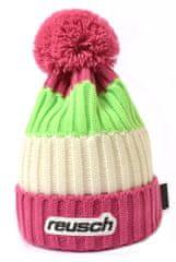 Reusch Civetta dječja kapa, ružičasta/bijela/zelena