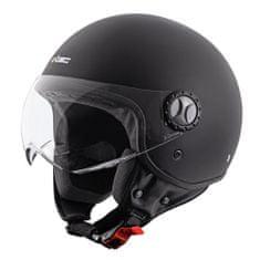 W-TEC Helma na skútr W-TEC FS-701MB Matt Black Velikost: Barva černá, Velikost XS (53-54)