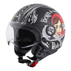 W-TEC Helma na skútr FS-701BG Black Ride