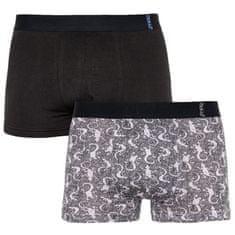 Molvy 2PACK pánské boxerky vícebarevné (KP-068-BEU)
