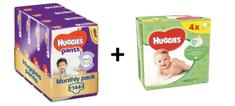 Huggies Pants 4 (9-14 kg) Jumbo 144 ks (4x36 ks) - Mesačné balenie