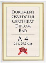 Tradag Rámeček Lipsko bílý 21x29,7 - A4