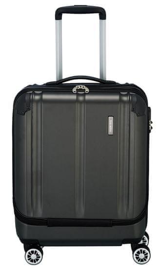 Travelite Kabínový cestovný kufor City 4w Business wheeler 73046-04 40 l