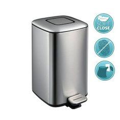 SAPHO REGENT odpadkový koš 12l, Soft Close, nerez mat (DR502)