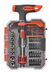 Tactix Sada bitů s T šroubovákem, 31 ks - TC900984 | Tactix