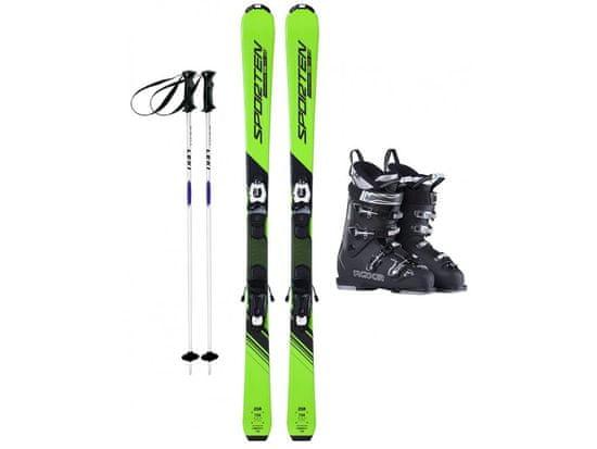 Sporten půjčení lyžařského setu na celou zimu (lyže: 168 cm, lyžáky: 31,5 cm, hůlky: s holemi)