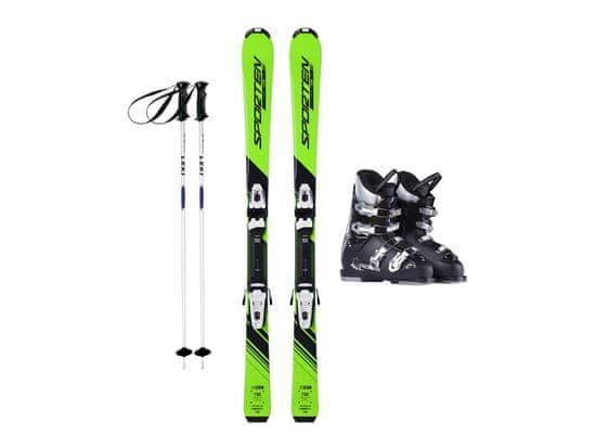 Sporten půjčení lyžařského setu na celou zimu (lyže: 130 cm, lyžáky: 25,5 cm, hůlky: s holemi)
