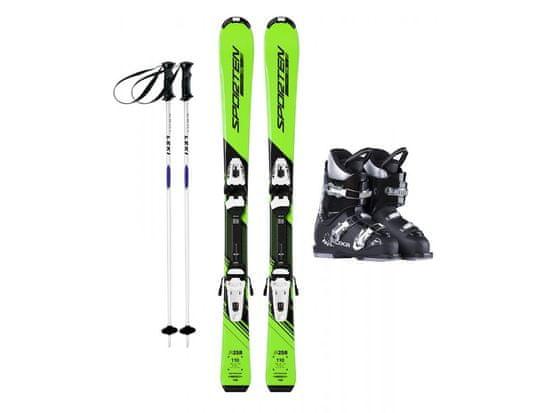 Sporten půjčení lyžařského setu na celou zimu (lyže: 100 cm, lyžáky: 18,5 cm, hůlky: s holemi)