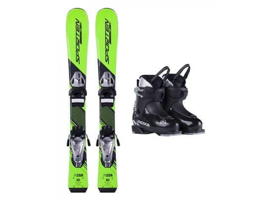 Sporten půjčení lyžařského setu na celou zimu (lyže: 90 cm, lyžáky: 16,5 cm, hůlky: s holemi)