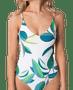 5 - Rip Curl női egyrészes fürdőruha Palm Bay Good, XL, fehér