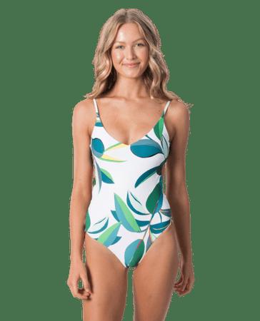 Rip Curl női egyrészes fürdőruha Palm Bay Good, XL, fehér