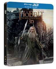 Hobit: Šmakova dračí poušť 3D+2D (4 disky - steelbook) - Blu-ray