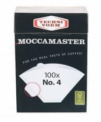 Moccamaster filter biely veľkosť 4 - 100 kusov