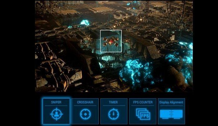 monitor gamingowy Asus VG27VH1B (90LM0691-B01170) celownik stopera OSD menu GamePlus