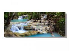 Obrazy na plátne - Vodopád 100 x 40 cm