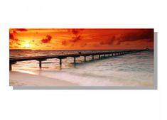 Dimex Obrazy na plátne - Mólo a západ slnka 100 x 40 cm
