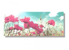 Dimex Obrazy na plátne - Vlčie maky retro 100 x 40 cm