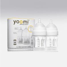 Yoomi 140 ml dojčenská fľaša 2x (bez ohrievača) + cumlík s pomalým prietokom