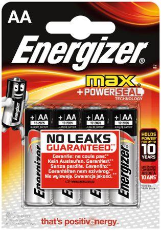 Energizer Max alkalna baterija AA (LR6), 4 kosi