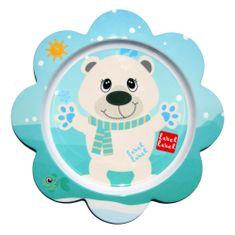 Label-Label Friend Tanier s kvetinovým tvarom - ľadový medveď