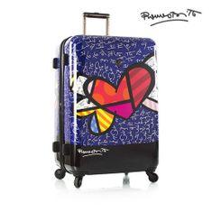 Heys Skořepinový cestovní kufr Britto Heart with Wings L 100 l