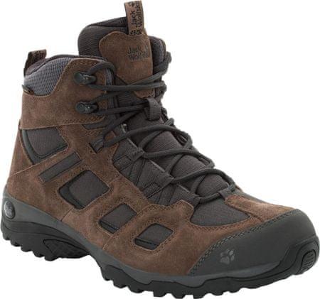 Jack Wolfskin Vojo Hike 2 Texapore Mid M (4032371-5690) moški pohodniški čevlji, rjavi, 41