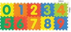 Teddies BABY Pěnové puzzle Číslice 32x32cm