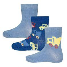 EWERS chlapčenské ponožky set 3 ks autá