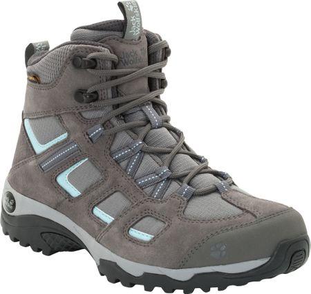 Jack Wolfskin Vojo Hike 2 Texapore Mid W (4032381-6011) ženski pohodniški čevlji, sivi, 37