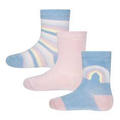EWERS dievčenské ponožky set 3 ks dúha