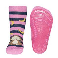 EWERS dievčenské protišmykové ponožky s opičkou