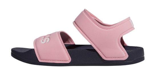 Adidas dievčenské sandále ADILETTE SANDAL K, 33, ružová