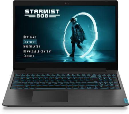 Notebook IdeaPad L340-17IRH Gaming 15,6 displej Full HD gaming stream redukce modrého světla