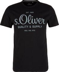 s.Oliver Pánske tričko 03.899.32.5264.9999 Black