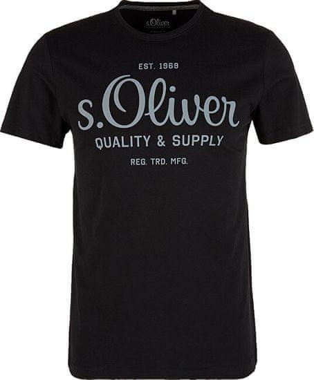 s.Oliver Pánske tričko 03.899.32.5264.9999 Black (Veľkosť XXXL)