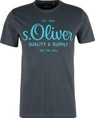 s.Oliver Pánske tričko 03.899.32.5264.9581 Volcano grey