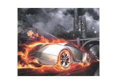 Dimex Obrazy na plátne - Ohnivé auto 50 x 60 cm