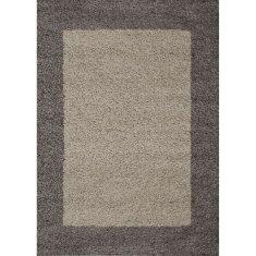 Nazar moderní chlupatý koberec - hnědý - 230 × 160 cm
