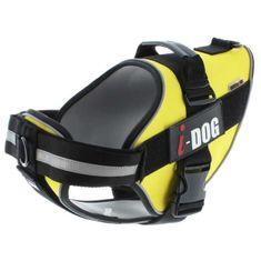 I Dog postroj pro psy z neoprenu - žlutý - XL