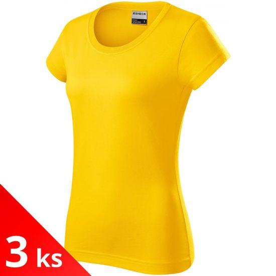 Rimeck 3x Žlté Dámske odolné tričko